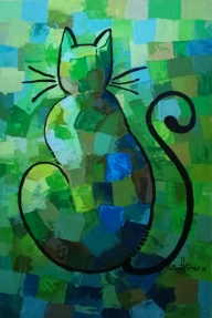 Green Cat. By Sonny Osei Owusu